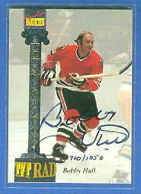 Bobby Hull - 1994-95 Signature Rookies Tetrad Titans AUTOGRAPH Hockey cards value