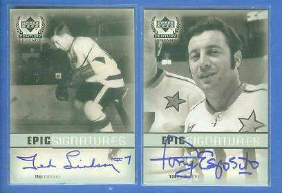 Tony Esposito - 1999-00 Upper Deck Century Legends EPIC AUTOGRAPH Hockey cards value