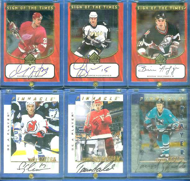 #BHO Brian Holzinger - 1997-98 SP Authentic 'Sign of the Times' AUTOGRAPH Hockey cards value