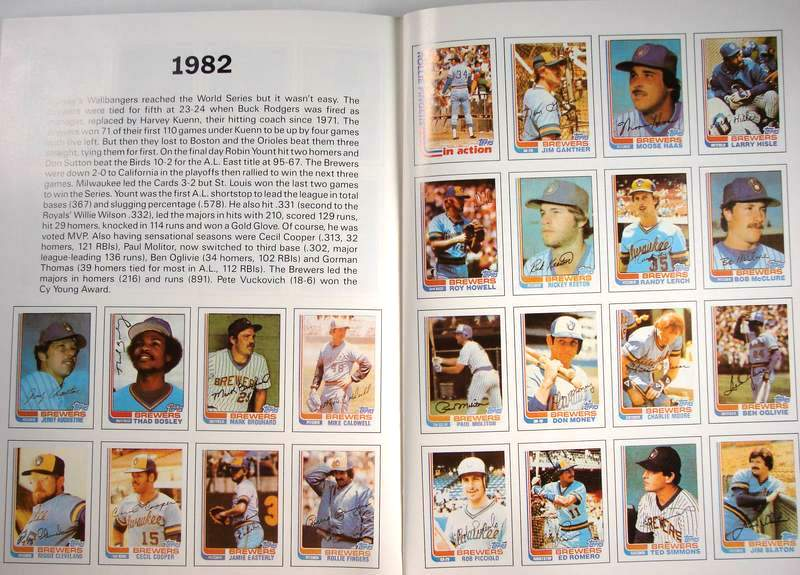 Brewers - 1987 Topps/Surf Book with (5) AUTOGRAPHS, James Spence LOA !!! Baseball cards value