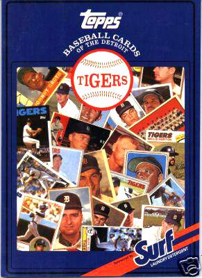 Tigers - 1987 Topps/Surf Book with (20) AUTOGRAPHS, James Spence LOA !!! Baseball cards value