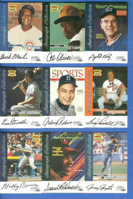 1999 SI Greats of the Game AUTOGRAPHS #54 Al Oliver Baseball cards value