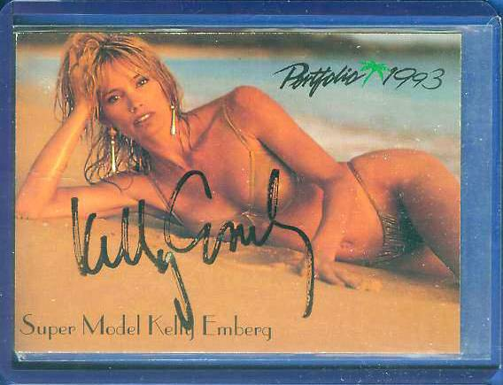 Kelly Emberg - 1993 Portfolio International #102 AUTOGRAPH (Super Model) Baseball cards value