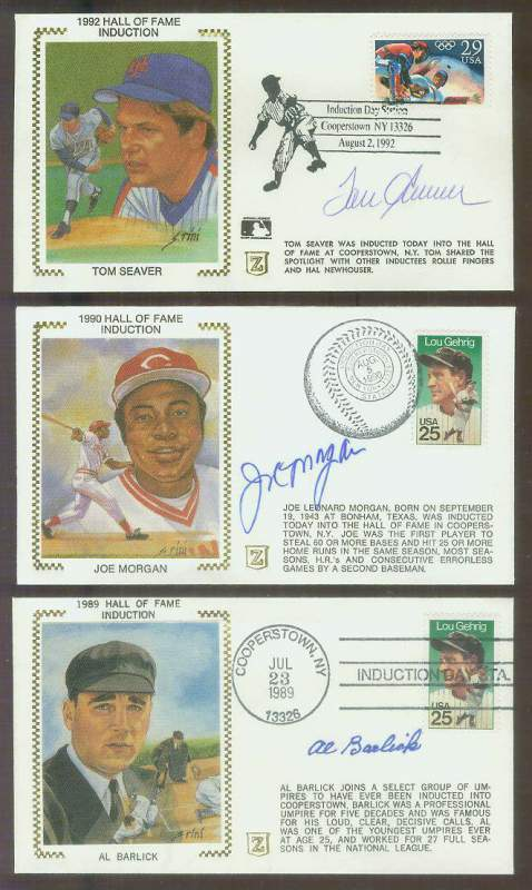 Al Barlick - 1989 AUTOGRAPHED 'Hall of Fame Induction' Z-Cachet (Umpire) Baseball cards value