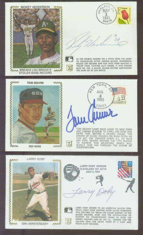 Tom Seaver - 1985 AUTOGRAPHED '300 Wins' Z-Cachet (White Sox) Baseball cards value