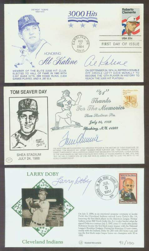Tom Seaver - 1988 AUTOGRAPHED 'Tom Seaver Day-Shea Stadium' Cachet Baseball cards value