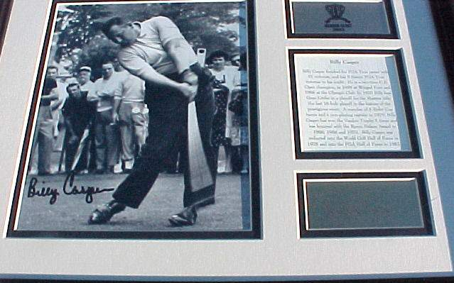 Billy Casper - AUTOGRAPHED 12x16 Framed and Matted Plaque [GOLF] Golf cards value