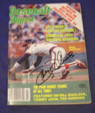Doug DeCinces - AUTOGRAPHED 'Baseball Digest' (Angels) Baseball cards value