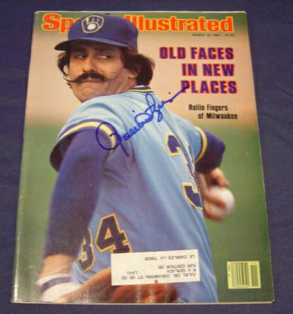 Rollie Fingers - AUTOGRAPHED 1981 SPORTS ILLUSTRATED (Brewers) Baseball cards value