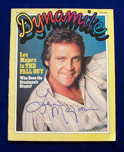Lee Majors - AUTOGRAPHED 1982 'Dynomite' magazine (non-sport) Baseball cards value