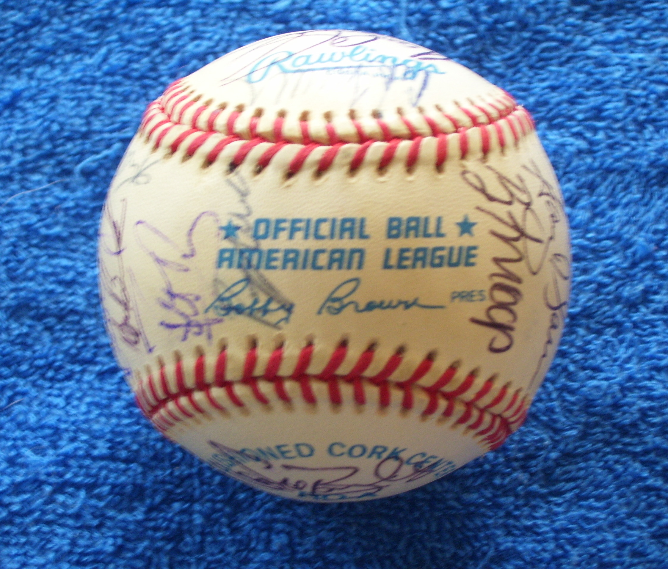 1992 Angels - Team Signed/AUTOGRAPHED baseball [#ed08] w/27 Signatures Baseball cards value