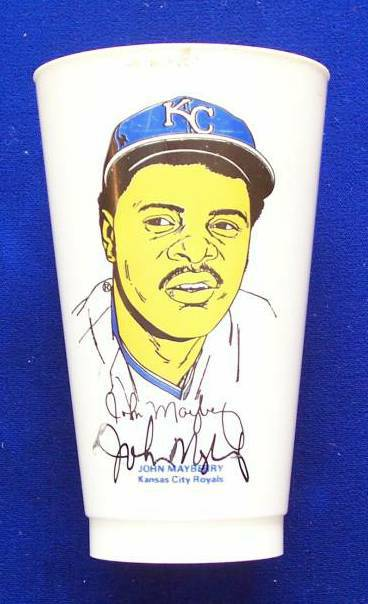 John Mayberry - AUTOGRAPHED Slurpee's Cup (Royals) Baseball cards value