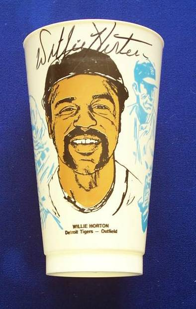 Willie Horton - AUTOGRAPHED Slurpee's Cup (Tigers) Baseball cards value