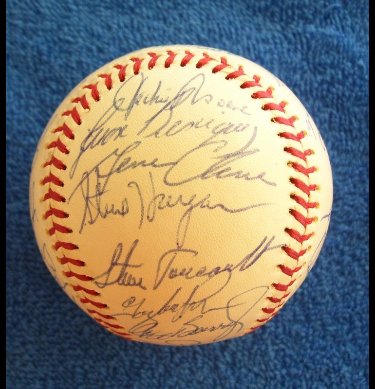 1976 Rangers - Team Signed/AUTOGRAPHED baseball [#ed5-01] w/27 Signatures Baseball cards value