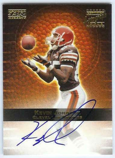 Kevin Johnson - 2000 Bowman Reserve CERTIFIED AUTOGRAPH (Bengals) Football cards value