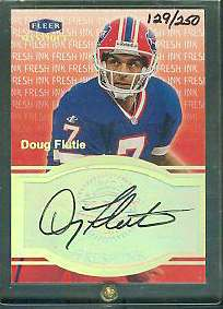 Doug Flutie - 1999 Fleer Mystique 'Fresh Ink' AUTOGRAPH (Bills) Football cards value
