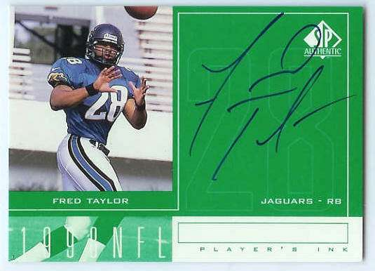 Fred Taylor - 1998 SP Authentic 'Player's Ink' AUTOGRAPH (Jaguars) Football cards value
