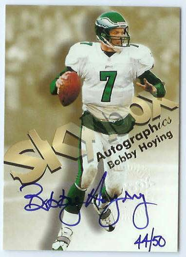 Bobby Hoying - 1998 SkyBox Premium 'Autographics' BLUE AUTOGRAPH Football cards value