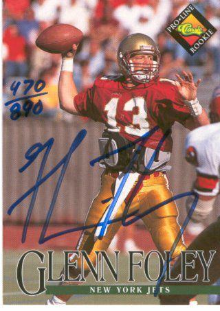 Glenn Foley - 1994 Pro Line Live AUTOGRAPH (Jets) Football cards value
