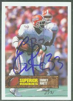 Errict Rhett - 1994 Superior Rookies #33 AUTOGRAPH (Folrida Gators) Football cards value