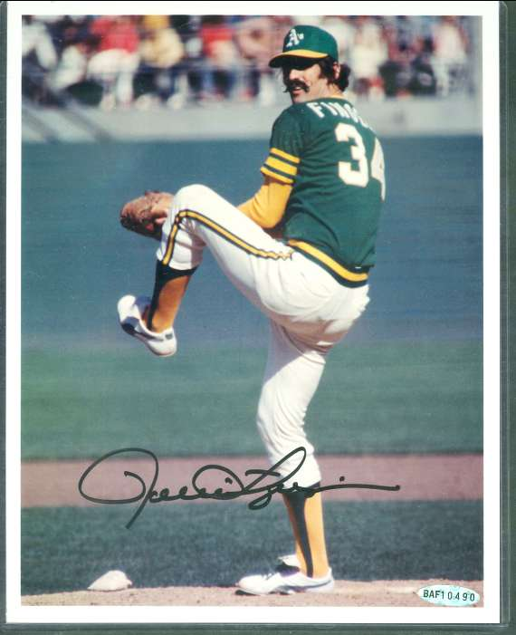 Rollie Fingers - UDA AUTOGRAPHED Color 8x10 (A's) Baseball cards value
