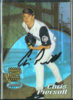 2002 Bowman's Best #.98 - Chris Piersoll GOLD AUTOGRAPH ROOKIE (Reds) Baseball cards value