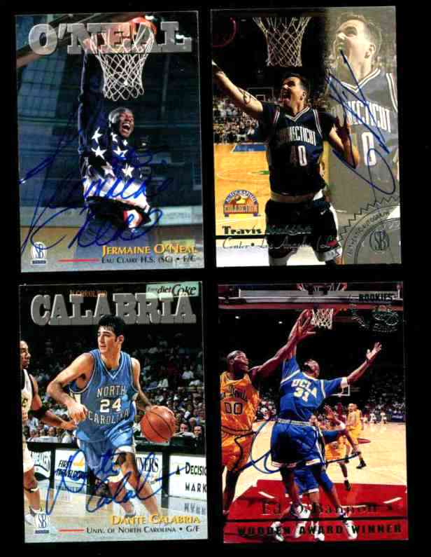 Jermaine O'Neal - 1997 Score Board Autographed ROOKIE/DRAFT PICK w/COA Basketball cards value