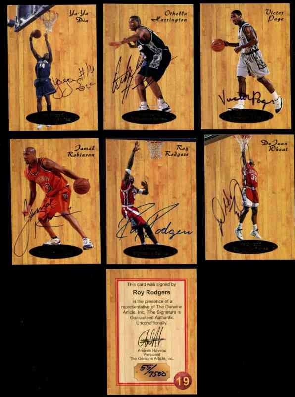 1997 Genuine Article 'Hardwood Signature Series' #15 Lorenzen Wright AUTOGR Basketball cards value