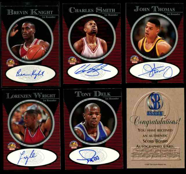1998 Score Board '1st Rounder' - Lorenzen Wright AUTOGRAPHED Basketball cards value