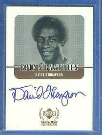 1999 UD Century Legends 'Epic Signatures' #DT David Thompson AUTOGRAPH Basketball cards value