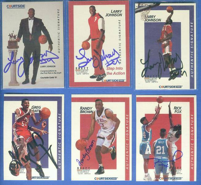 1991 Courtside #.1 Larry Johnson #1 DRAFT PICK (UNLV) Basketball cards value