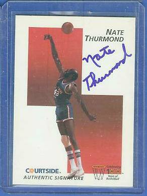 1992 Courtside #38 Nate Thurmond AUTOGRAPH (Bowling Green) Basketball cards value