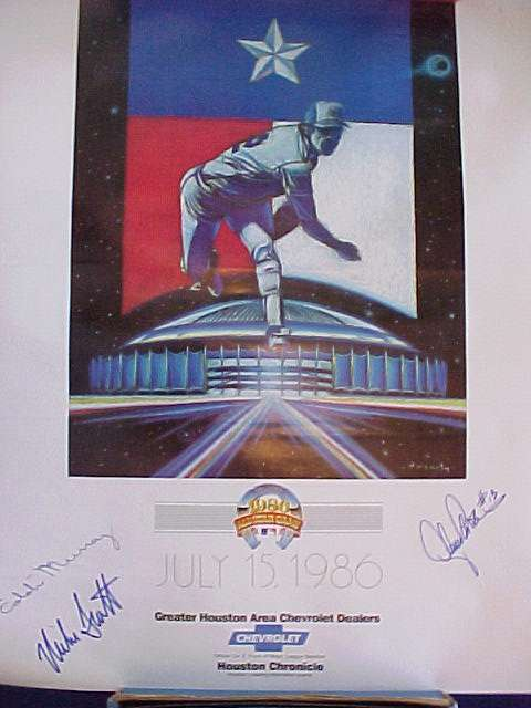 EDDIE MURRAY - AUTOGRAPHED 1986 Chevrolet ALL-STAR Game Poster (18x22) Baseball cards value