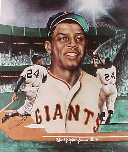 WILLIE MAYS - AUTOGRAPHED 18x24 Poster (Giants) Baseball cards value