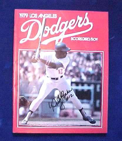 Dusty Baker - AUTOGRAPHED 1979 Dodgers 'Scorecard' Program Baseball cards value