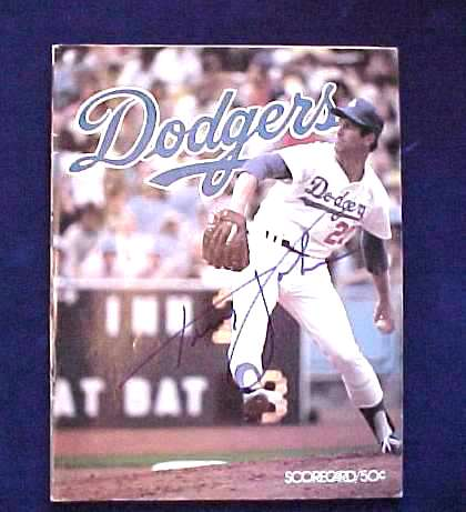 Tommy John - AUTOGRAPHED 1978 Dodgers 'Scorecard' Program Baseball cards value