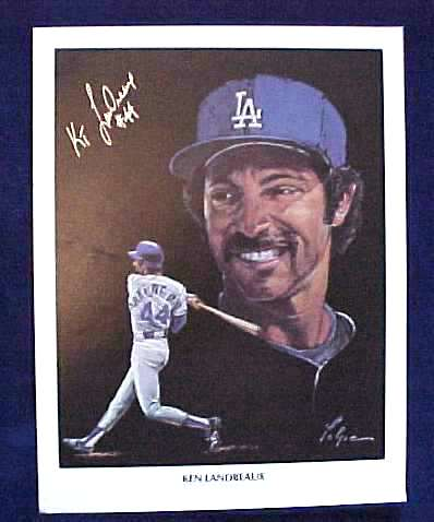 Ken Landreaux - AUTOGRAPHED 1982 Union Oil Print (Dodgers) Baseball cards value