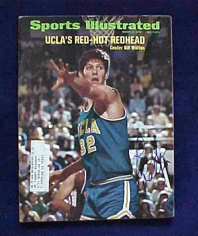 Bill Walton - AUTOGRAPHED 1972 SPORTS ILLUSTRATED (UCLA) Basketball cards value