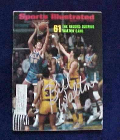 Bill Walton - AUTOGRAPHED 1973 SPORTS ILLUSTRATED (UCLA) Basketball cards value