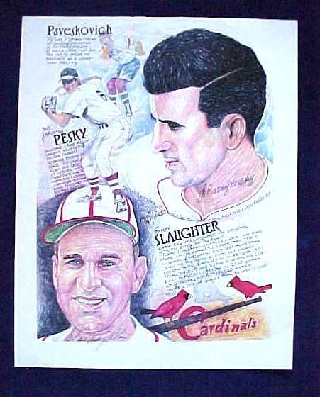 Enos Slaughter/Johnny Pesky - AUTOGRAPHED 11x14 Print (Cardinals/Red Sox) Baseball cards value