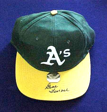 Gene Tenace - AUTOGRAPHED Baseball Cap (A's) Baseball cards value