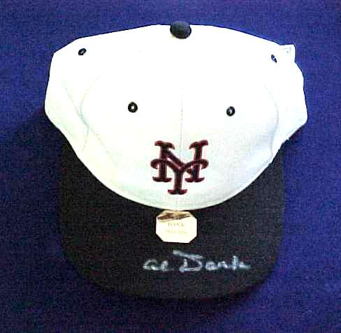 Al Dark - AUTOGRAPHED Baseball Cap (NY Giants) Baseball cards value