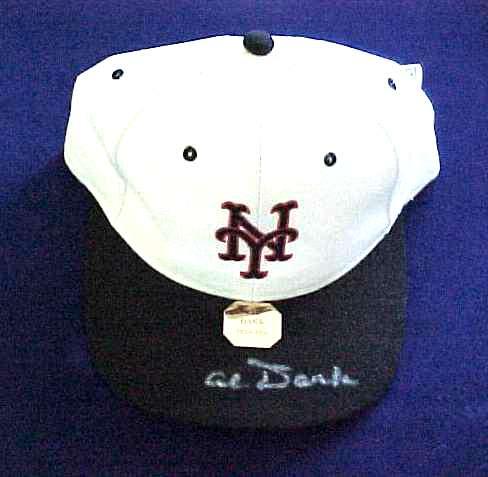 Al Dark - AUTOGRAPHED Baseball Cap (NY Giants) Baseball cards value