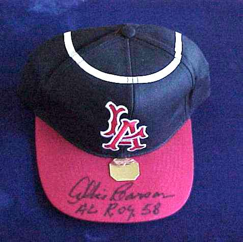 Albie Pearson - AUTOGRAPHED Baseball Cap (Angels) Baseball cards value