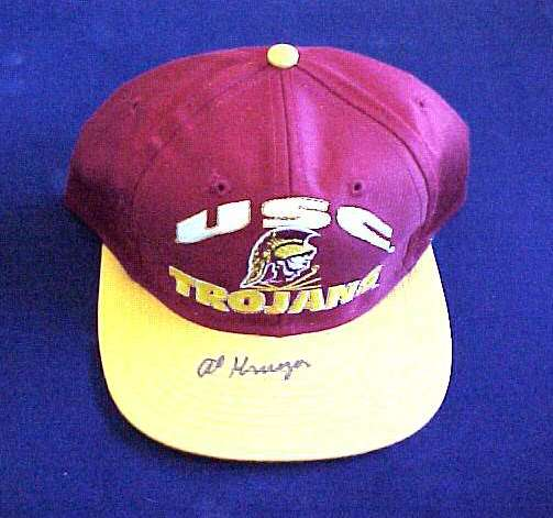Al Kruger - AUTOGRAPHED USC Baseball Cap Football cards value