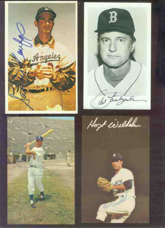 Hoyt Wilhelm - AUTOGRAPHED Color Postcard (Dodgers,deceased) Baseball cards value