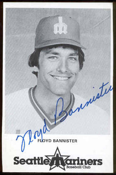 Floyd Bannister - AUTOGRAPHED Team-Issued Postcard (Mariners) Baseball cards value