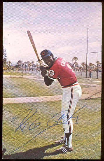 Rico Carty - AUTOGRAPHED Postcard (Indians) Baseball cards value