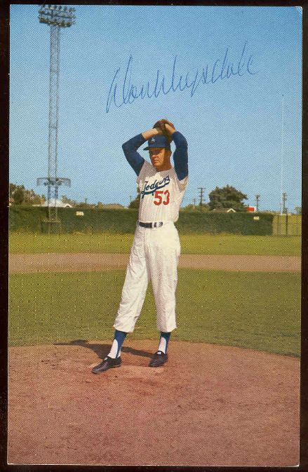 Don Drysdale - AUTOGRAPHED L.A. Dodgers Postcard (on rubber) (Dodgers) Baseball cards value
