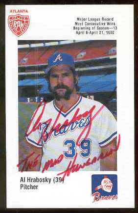 Al Hrabosky - AUTOGRAPHED 1982 Braves PAL Issue (Braves) Baseball cards value